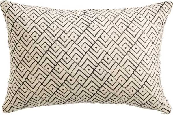 """18""""x12"""" triangle lattice pillow with down-alternative insert"" - CB2"