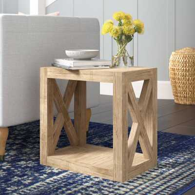 Wrightstown Solid Wood Floor Shelf End Table - Wayfair