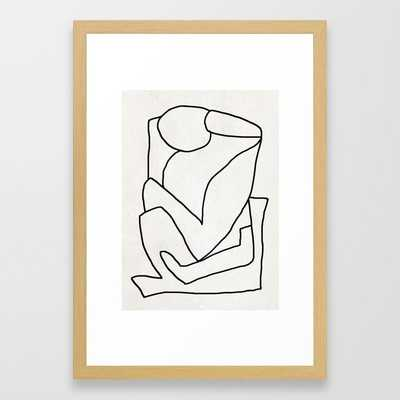 Abstract line art 2 Framed Art Print - Society6