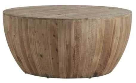 Hindsville Solid Wood Drum Coffee Table - Birch Lane