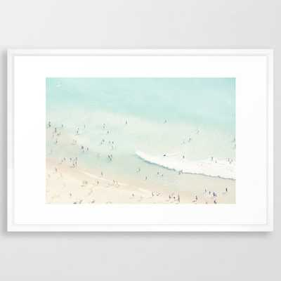 "beach summer fun - 26"" x 38"" - vector white - Society6"