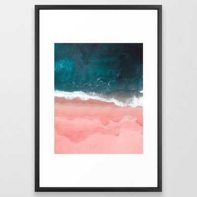 Turquoise Sea Pastel Beach III Framed Art Print - Society6
