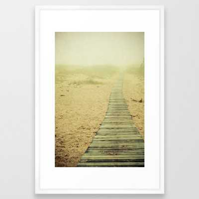 Beach Hike Framed Art Print by Olivia Joy St.claire - Cozy Home Decor, - Vector White - LARGE (Gallery)-26x38 - Society6