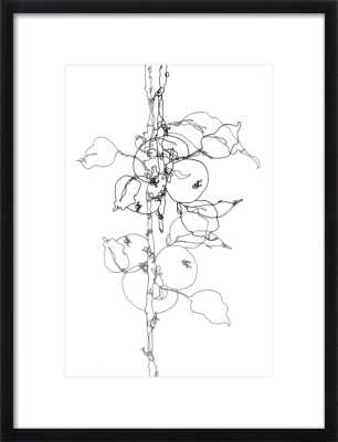Apple Tree 1 // Distressed Cream Double Bead Wood Frame // With Matte - Artfully Walls