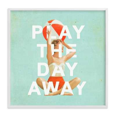 play the day away  - 30x30 white frame - Minted
