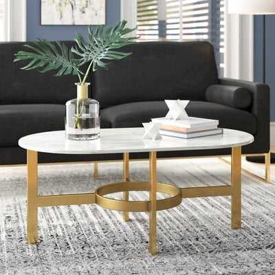 Gallego Marbled Coffee Table - Wayfair