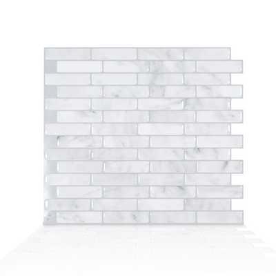 "Milenza Bari 9"" x 10.2"" Peel & Stick Mosaic Tile in Gray - Wayfair"