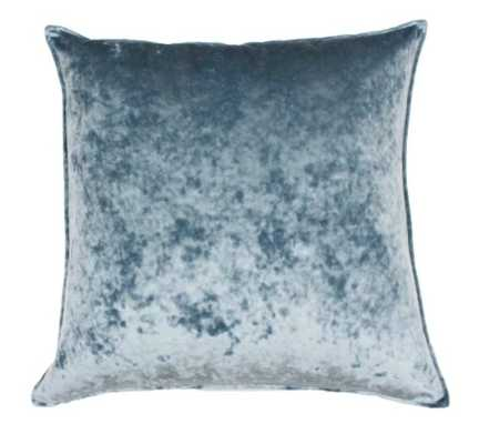 Ibenz Ice Velvet Lumbar Throw Pillow - Décor Therapy - blue - oversiezed - Target
