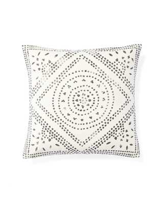 "Camille Diamond Medallion 20""SQ. Pillow Cover - Ivory - Insert sold separately - Serena and Lily"