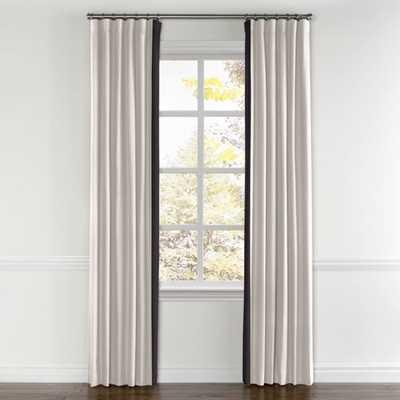 "Convertible Drapes Ivory/Snow 60"" Bay Window - Loom Decor"