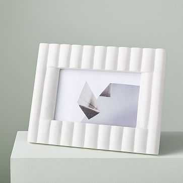 Textured Marble Frame, Fluted Rectangle - West Elm