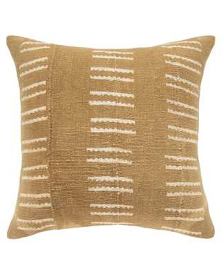 SNAKE BONE MUD CLOTH PILLOW IN TAN - down alternative pillow insert included - PillowPia