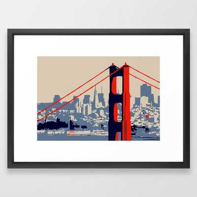 Golden Gate Bridge Vector Art - Vector Black - Society6
