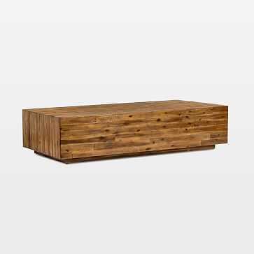 Logan Industrial Slab Coffee Table - West Elm