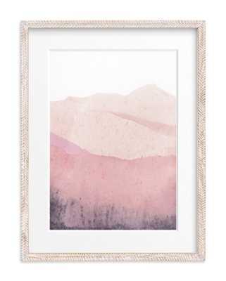 Mountain Range - Whitewashed Herringbone MAtted - Minted