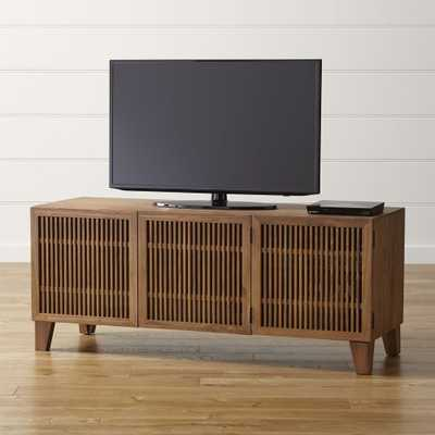 "Marin Natural 58"" Media Console - Crate and Barrel"