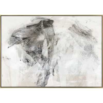 "SMOKE I BY JORDAN CARLYLE - FLOATER FRAME GRAPHIC ART PRINT ON CANVAS / 36"" x 48"" - Perigold"