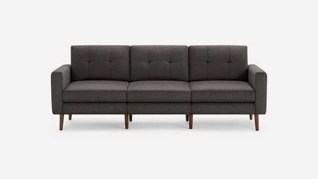 Block Nomad Sofa - Charcoal/ Walnut legs - Burrow