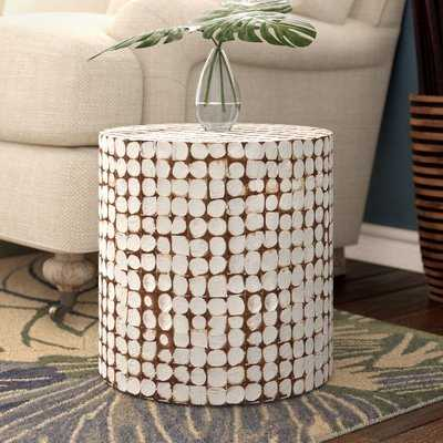 White Kathline Coco End Table - Wayfair