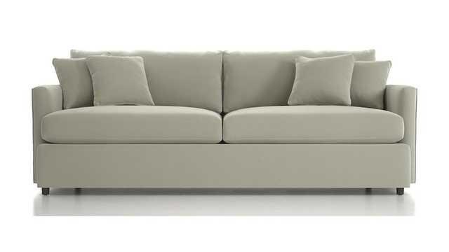 "Lounge II 93"" Sofa - Grey - Crate and Barrel"
