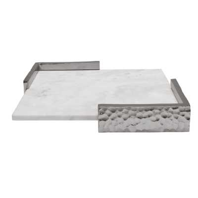 Marble Hammered Corner Accent Tray - Perigold