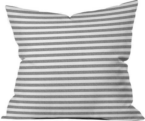 "STRIPES IN GREY - 26"" x 26"" - Pillow W/ Insert - Wander Print Co."