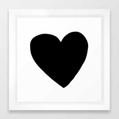 Love You Framed Art Print by Leah Flores - Vector White - Society6