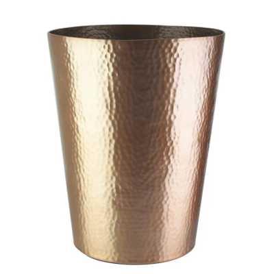Kingon Hammered Waste Basket; Rose Gold - Wayfair