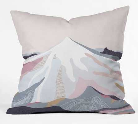Off the Grid Purple Throw Pillow - Wander Print Co.