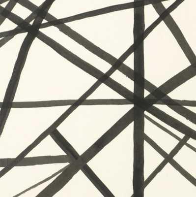 Channels Wallpaper - Kelly Wearstler for Groundworks // Ebony-Ivory - Willa Skye