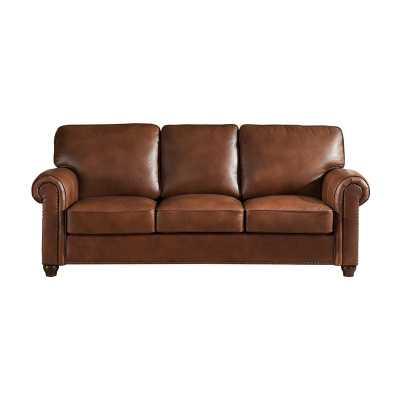 Darby Home Co Kiaan Craft Leather Sofa - Wayfair