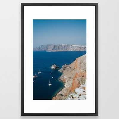 Oia Framed Art Print - Society6