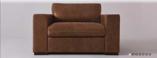 Aberdeen Leather Chair - PARAGON LEATHER I RAW UMBER - Sixpenny