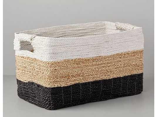 Tricolor Storage Baskets, console - West Elm