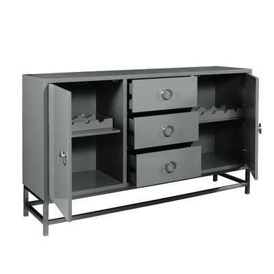 Mccardle Modern 3 Drawer Wine Console Bar Cabinet - AllModern
