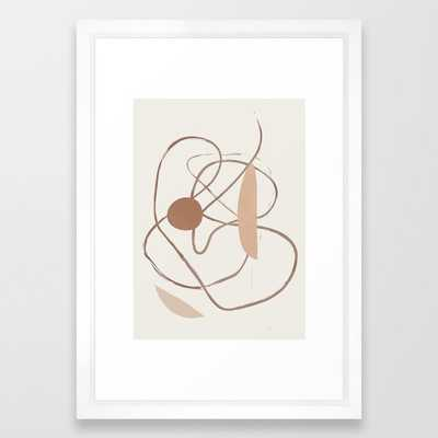 Abstract Line Movement II Framed Art Print - Society6