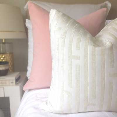 Cut Velvet Pillow Cover - Ivory - Willa Skye