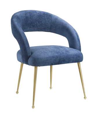 Stephanie Slub Navy Dining Chair - Maren Home