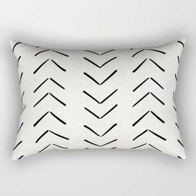 Mud Cloth Big Arrows in Cream Rectangular Pillow - Medium 20x14 - Society6