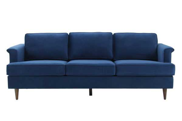 Leia Navy Velvet Sofa - Maren Home