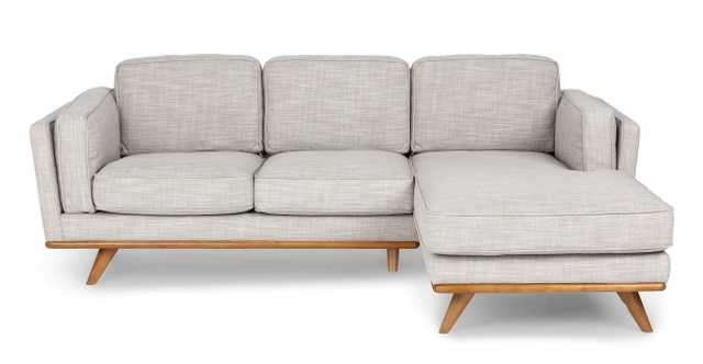 Timber Rain Cloud Gray Right Sectional - Article
