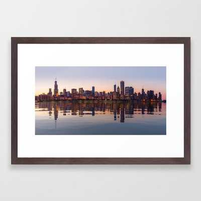 Panorama of the City skyline of Chicago Framed Art Print - Society6