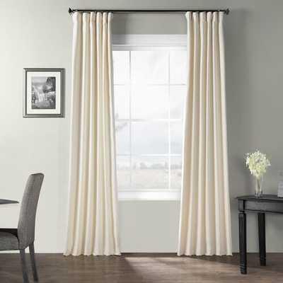 "Dario Solid Cotton Textured Room Darkening Rod Pocket Single Curtain Panel - 50"" x 96"" - Wayfair"