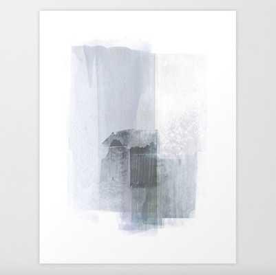 Blue Grey Minimalist Abstract Painting Art Print - Society6