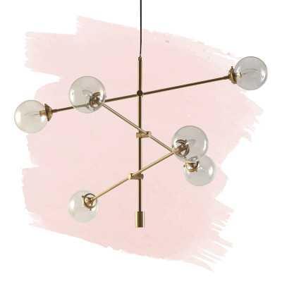 Bailey Antique 6-Light Sputnik Chandelier, Gold - Wayfair