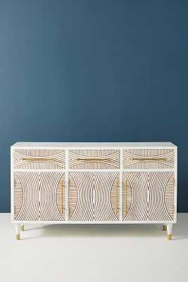 Carved Thalia Media Console - Anthropologie