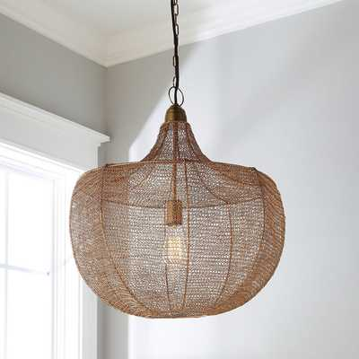 BOHO WOVEN WIRE PENDANT - Shades of Light