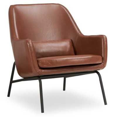 MoDRN Sandpiper Upholstered Lounge Chair- Caramel Brown - Hayneedle
