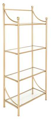 Diana 4 Tier Etagere - Gold Liquid/Tempered Glass - Arlo Home - Arlo Home