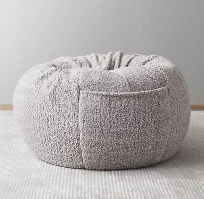HEATHERED SHERPA BEAN BAG - GREY - RH Baby & Child